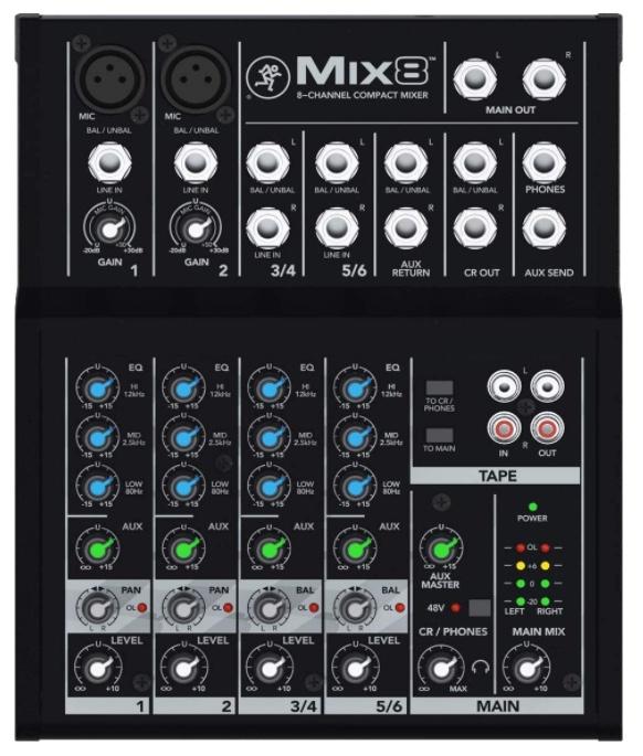 Mesa de Mezclas Mackie Mix 8