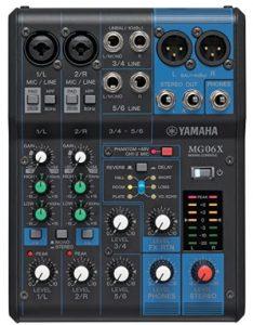 Mesa de mezclas Yamaha MG06X